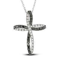 newest antique siver plated cross religious pendants necklaces 30pcs/lot