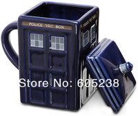 3 pcs Doctor Who: Tardis Mug Ceramic Mug With Removable Lid Cup