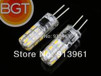 1PC G4 LED 12V 3W DC LED Bulbs SMD 3014 24Chips Silicone Body MINI Beads LED Lamp G4 100Lm, 2700K~6000K ,LED Bulbs & Tubes