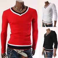 The new Korean cuff hit  men's handsome long sleeved t-shirt