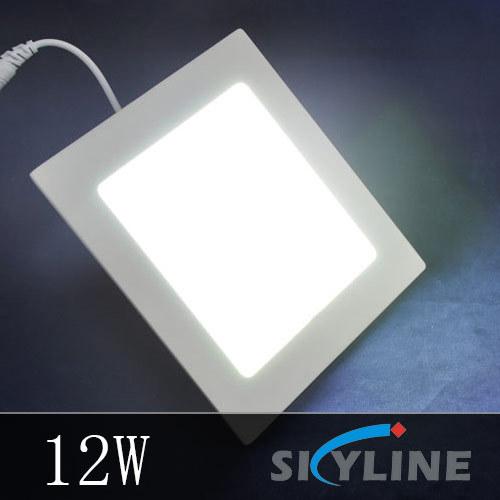 SMD2835 LED Ceiling Lamp AC85-265V Warm White/ White 880LM 12W Square Shape Bright Mini LED Panel Light ,6'' inside mounted(China (Mainland))
