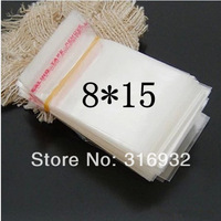 E4 Clear Resealable Cellophane/BOPP/Poly Bags 8*15 cm  Transparent Opp Bag Packing Plastic Bags Self Adhesive Seal