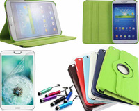 """360 Rotating PU Leather Stand Case Cover + Screen Protector Film & Stylus For Samsung Galaxy Tab 3 8"""" 8.0 T310 T311 T315"""