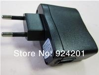 100pcs/lot,High quality EU Plug EU Version AC 100-240V /DC 5V 500mA USB Charger Adapter Power Supply Wall Home Office