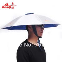 new arrival sun-shading hat fishing umbrella cap anti-uv folding sun-shading sunscreen umbrella hat