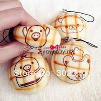 New Mini 5cm Cartoon Rilakkuma Melon Bun Squishy Phone Charm / Bag Charm Free Shipping