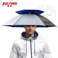 360 degree All round Umbrella hat double layer outdoor anti-uv umbrella cap windproof umbrella hat for fishing