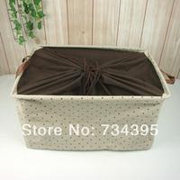 ZAKKA cotton fabric foldable storage box storage baskets covered storage box Storage Bag oversized living supplies