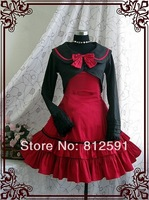 Lolita Cosplay Costumes Red And Black Princess Maid Dress XXS-6XL COS5016