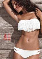Hot sell Newest Summer Fashion Sexy Women Bikini Swimwear Padded Boho Fringe Tassels Real Class 2pcs/one set
