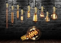 9 Lamps with different vintage edison bulb Pendant Light Industrial Edison Lamp American Style E27 Restaurant Kitchen Lights