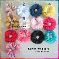Sunshine store #2F0025 20pcs/lot(13 colors)Double Mesh Gauze Flower Hair Styling  Accessories Children Girls Headbands Flowers