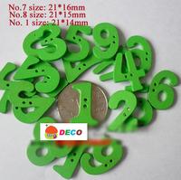 Min.order is $12(mix order button), Fancy number green wooden button,handmade 2 holes buttons,scrapbooking,DIY buttons(ss-1276)