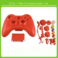 Free shipping Replacement full Housing cover case set for XBOX 360 wireless Controller - Red