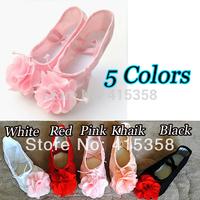Flower girl children ballet dancing shoes Athletic shoes dance shoes for women