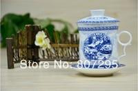 Free shipping bone china teapot porcelain tea set individual tea pot blue and white
