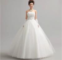 2014 wedding sweet princess tube top wedding dress fashion bride flower strap wedding  fashion Wedding Dresses