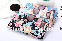 Luxury Flower Cloth Leather Case Cover for Samsung Galaxy Note3, 50pcs free DHL/EMS