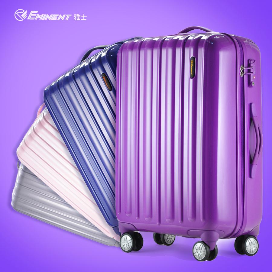 "Free shipping Eminent 100%PC universal wheels suitcase check box trolley luggage fashion ultra-light luggage travel bag20""25""29""(China (Mainland))"
