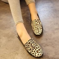 2014 women's spring and summer shoes leopard print round toe gommini women's single shoes loafers casual all-match single shoes