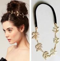 New Fashion Handmade Gold Leaf Women Headbands/ Hairbands Girls Hair Accessories