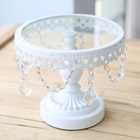 White metal iron cake stand cake pan fruit plate western pastry pallet wedding decoration (Small)