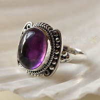Free Shipping 925 pure silver handmade natural amethyst ring inlaying finger ring new arrival