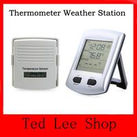 20pcs/lot Temperature Sensor Digital Wireless Indoor Outdoor Hygrometer Thermometer Weather Station Alarm Clock For Home Garden