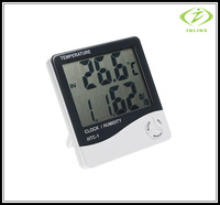 3 in 1 Indoor Digital LCD Humidity Meter Clock Hygrometer Thermometer CE Approval HTC-1 Thermohygrograph