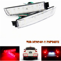 Clear Lens LED Bumper Reflectors fit Infiniti Nissan Add Lamp Tail Brake Lights