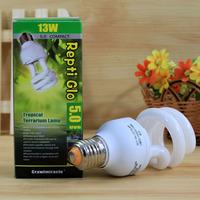 Free Shipping Mosquera tortoise lizard uv lamp heated calcium lights energy saving lamp uvb5.0 13w pet uv lamp