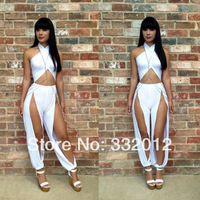 On Sale Sexy Jumpsuits Hole Bandage Jumpsuits Women Party Suits Fashion Union Pant Suit MKD0214