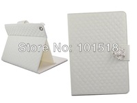 Free shipping&5PCS/Lot  Camellia Card Wallet Crystal Diamond Sheep Leather Case Cover For  Apple iPad Air 5