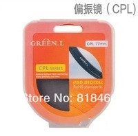 free shipping track number  40.5mm GREEN L CPL Circular Polarizing lens filter for Nikon J1, V1, for Olympus EP-1, EP-2 lens