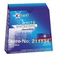 ( 1 Box  ) 28 Crest  Whitestrips Whitening 3d Advanced Vivid  Whitening Teeth Strips