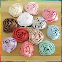 Sunshine store #2F0033 100pcs/lot(12 colors)Multilayer Rose Flower Hair Styling Kids Accessories Children Girls Headband Flowers