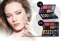wholesale 21 colors cosmetic multi-combination Makeup set cheek+eyebrow powder+lip gloss+eyeshadow 10sets/lot free shipping