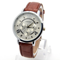 Wholesale men wristwatches fashion quartz watch leather strap watches men FS166