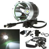 Free shipping! Waterproof 1200 Lumen CREE XML XM-L T6 LED Headlight Headlamp Flashlight Bicycle Light Lamp Rechargeable Battery