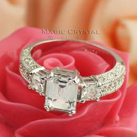 ITALINA Fashion fashion square ring female gift Engagement Rings