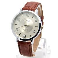 Wholesale 3 Colors High Quality Leather Strap Sports Watch Men Fashion Dress Quartz Wrist Analog Watch londa-31