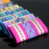 2014 new Unique national trend long design fashion embroidered wallet women's long wallet day clutch women's handbag