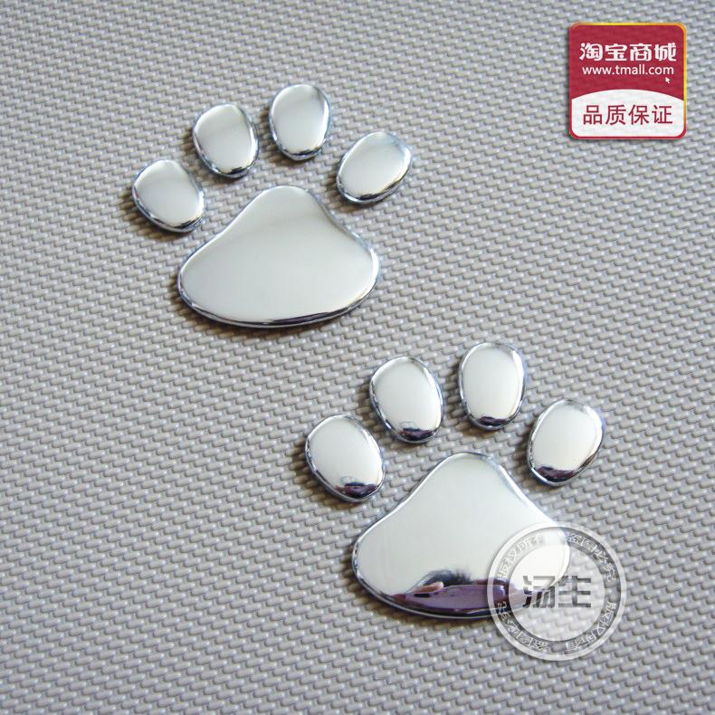 Refires 3d three-dimensional metal bear paw kitten paw 3d car stickers automotive standard decoration(China (Mainland))