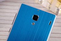 Metal back cover brushed surface sliver side for xiaomi hongmi , protective phone case for xiaomi red rice , free shipping