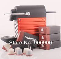EMOHOME EM-03 use 300 times more Espresso refillable Coffee Capsule pod reusable compatible Nespresso machines retail