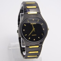 Drop Shipping New Brand Black Dial Men Full Steel watches Fashion Sports Quartz Wrist Watch RO-64