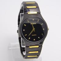 Drop Shipping New Brand Black Dial Men Full Steel watches Fashion Sports Quartz Wrist Watch RO-64