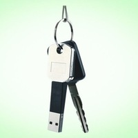 Free Shipping High Quality USB Data Cable Mini Key Chain Cable for iphone 5 5s cable with package Factory Supply Directly