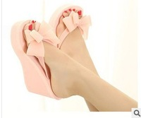 summer sandals for women 2014 hot sell  bowknot High heels flip-flops flip flops