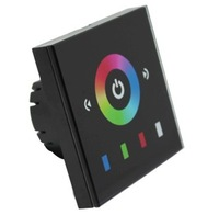 DHL Free Shipping Europe standard(Type) RGB Led touch wall mounted controller,3channels